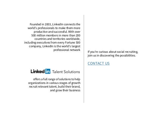 Founded in 2003, LinkedIn connects the world's professionals to make them more productive and successful. With over 500 mi...
