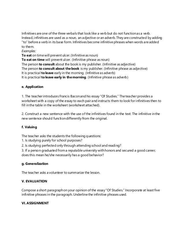 Hex fs 2 episode 6 – Infinitive Phrase Worksheet