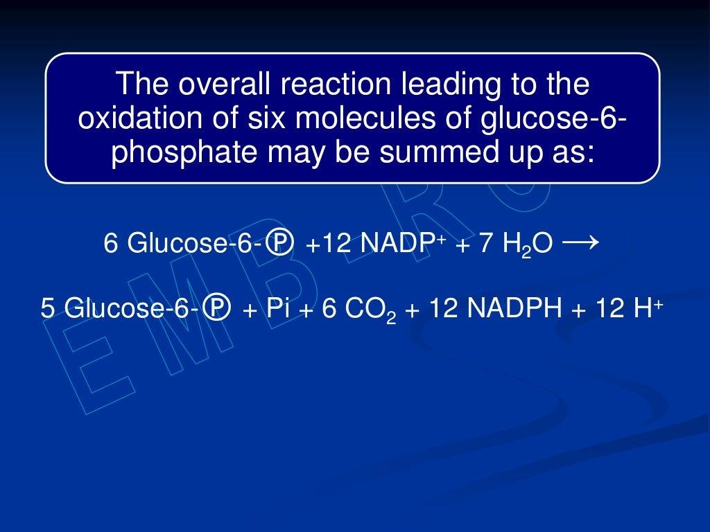 Hexose monophosphate shunt page 37