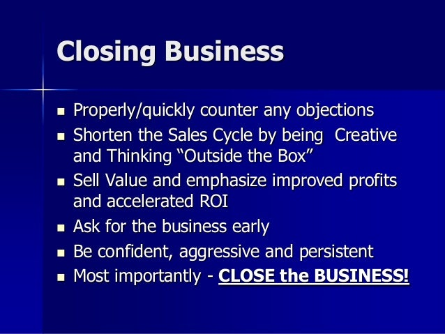 closing for business