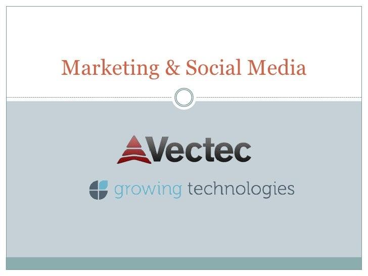 Marketing & Social Media<br />