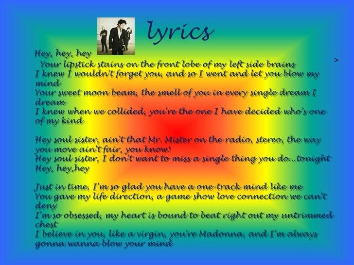 TRAIN - HEY, SOUL SISTER LYRICS - SongLyrics.com
