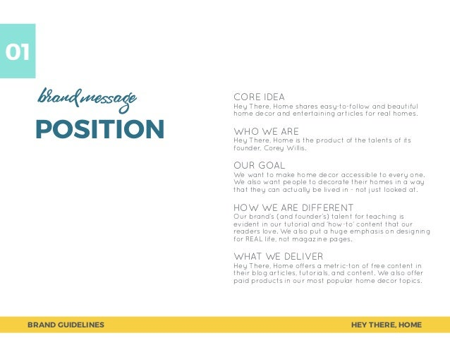 Home Decor Blog Brand Book