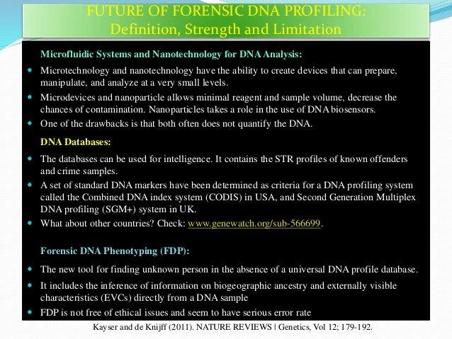 dna fingerprinting disadvantages