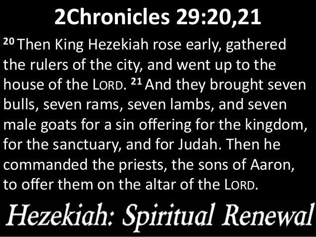 Hezekiah spiritual renewal