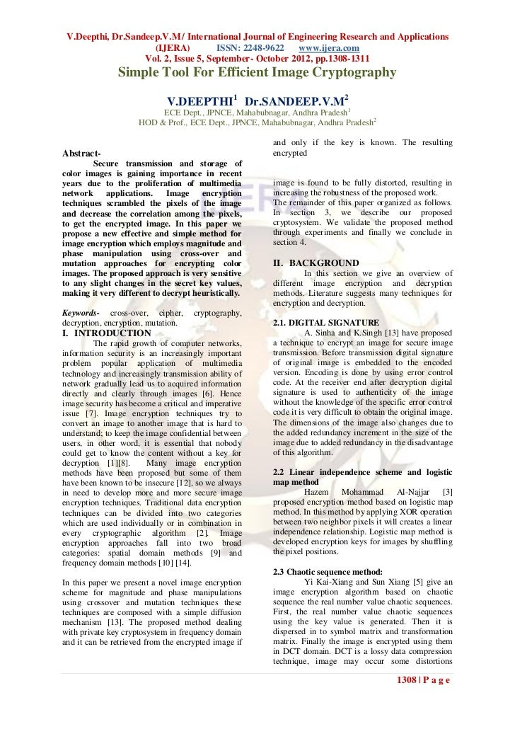 V.Deepthi, Dr.Sandeep.V.M / International Journal of Engineering Research and Applications                     (IJERA)    ...