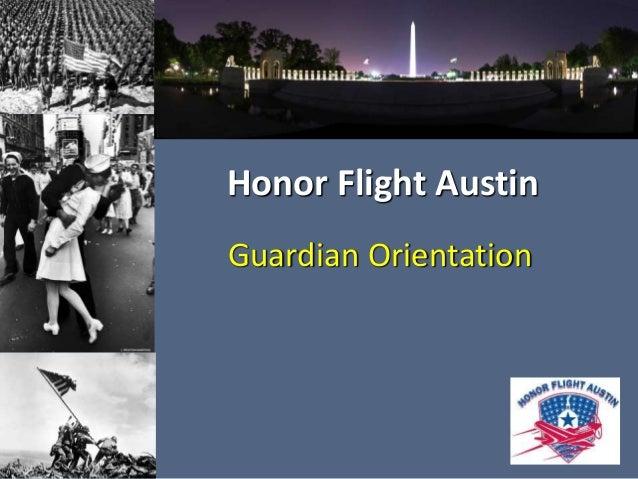 Honor Flight Austin  Guardian Orientation