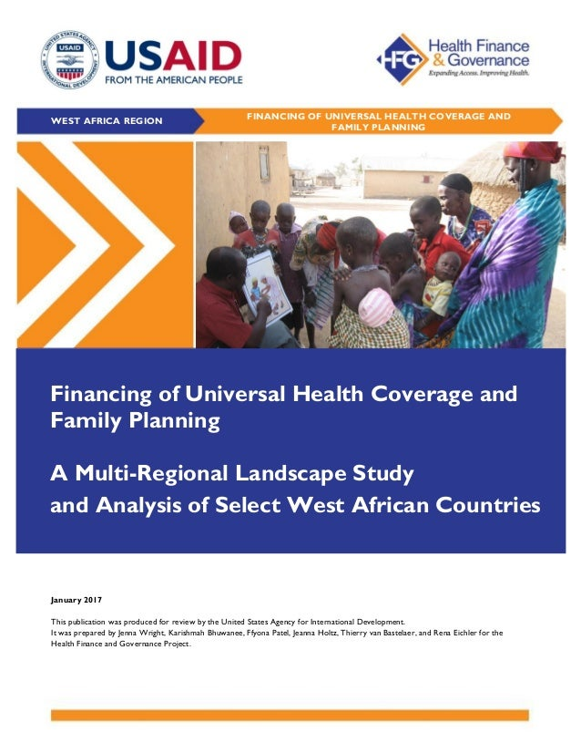 financing of universal health coverage and family planning a multi r