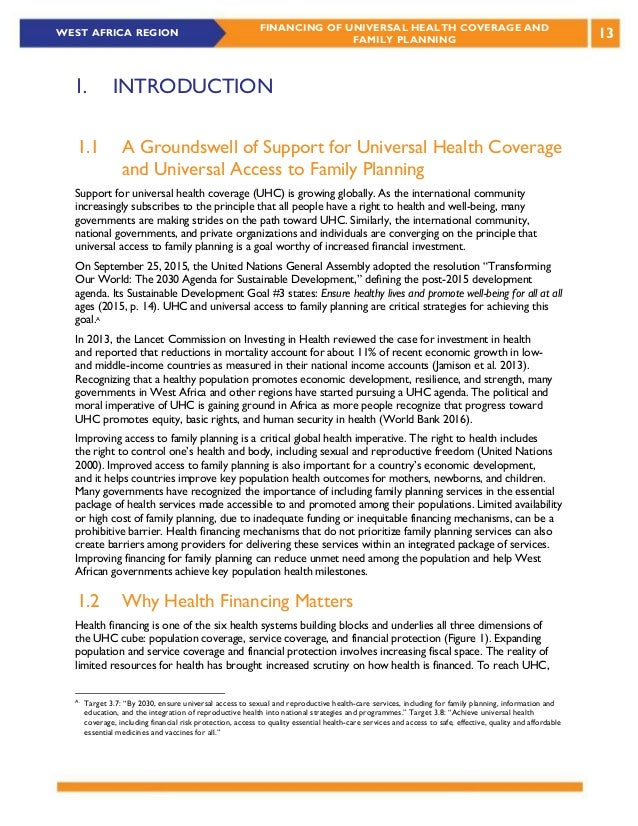 Health financing strategies for universal coverage