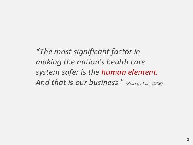 Human Factors is Vital for Transforming Health Care Slide 2