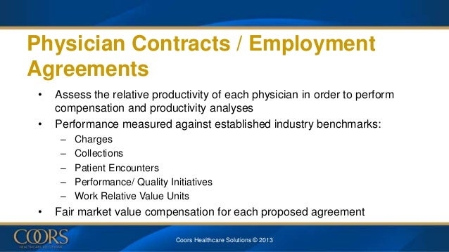 HFMA Physician Alignment Buy in March 2013 – Physician Employment Agreement