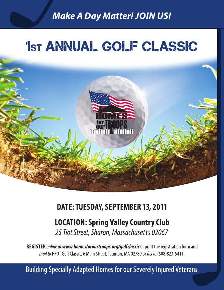 1st ANNUAl GOlF ClAssICTuesday, sepTember 13, 2011 • Spring Valley Country Club, 25 Tiot Street, Sharon, MA 02067         ...