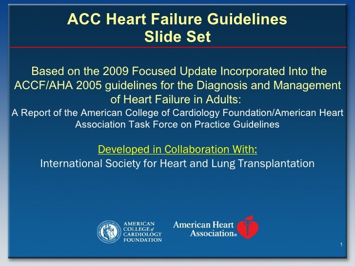 ACC Heart Failure Guidelines Slide Set Based on the 2009 Focused Update Incorporated Into the ACCF/AHA 2005 guidelines for...