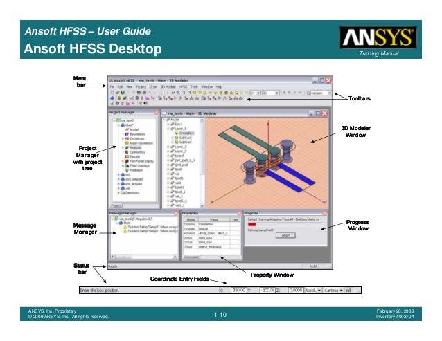 hfss user guide rh slideshare net Ansoft HFSS Training Ansoft HFSS Tutorial
