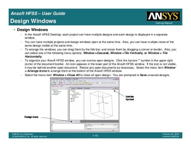 hfss user guide rh slideshare net Hfss RCS hfss 15 user manual