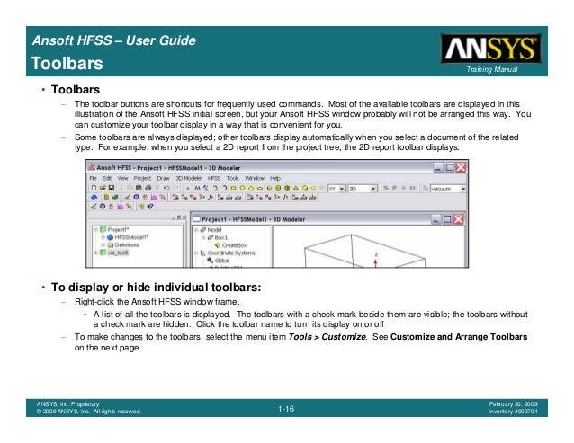 hfss user guide rh slideshare net Ansoft Maxwell Ansoft Maxwell
