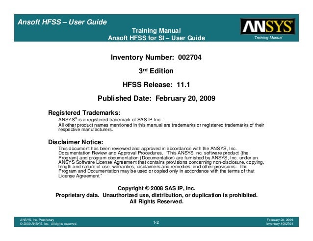Hfss user guide