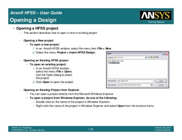 hfss user guide rh slideshare net Hfss 3D Hfss RCS