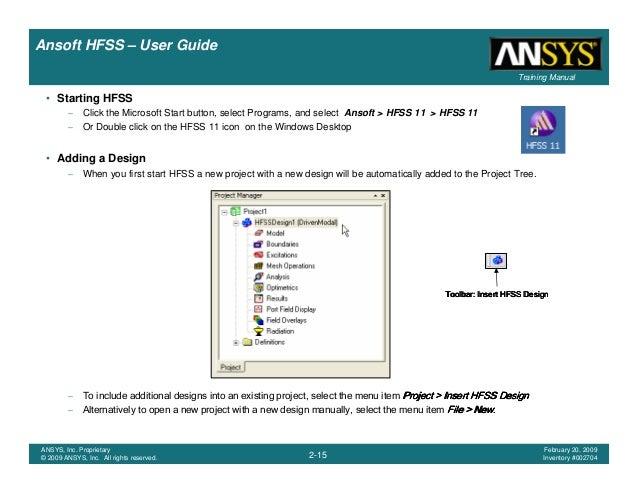 hfss user guide rh slideshare net Ansoft HFSS Antenna Spiral Ansoft HFSS Tutorial