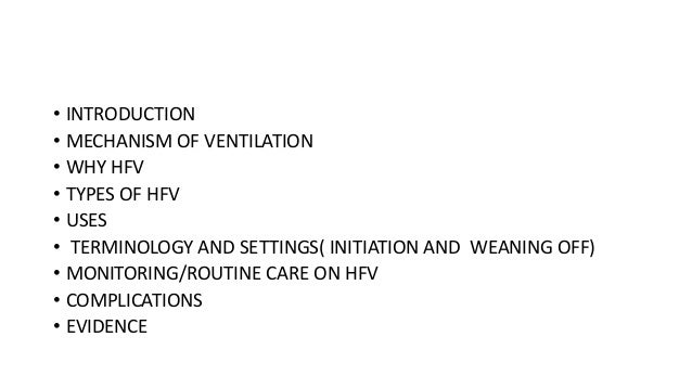High Frequency Ventilation Neonates
