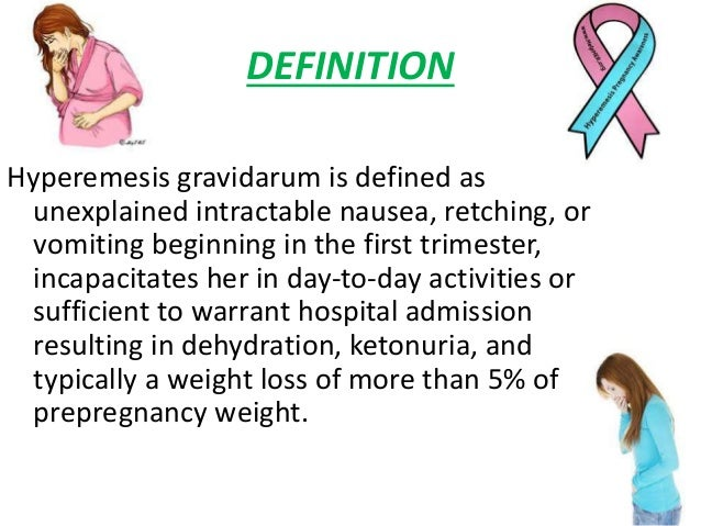 Management Of Hyperemesis Gravidarum