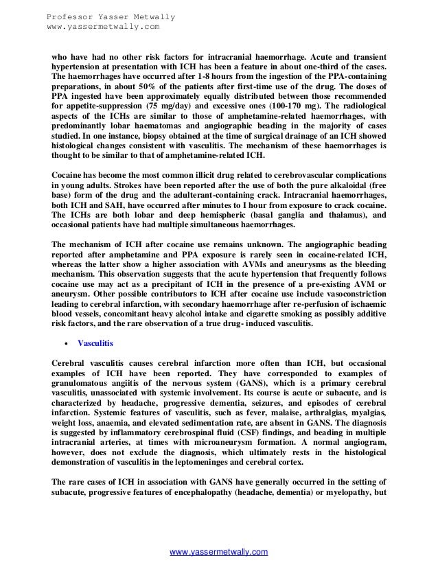 radiological pathology of spontaneous cerebral hemorrhage  11