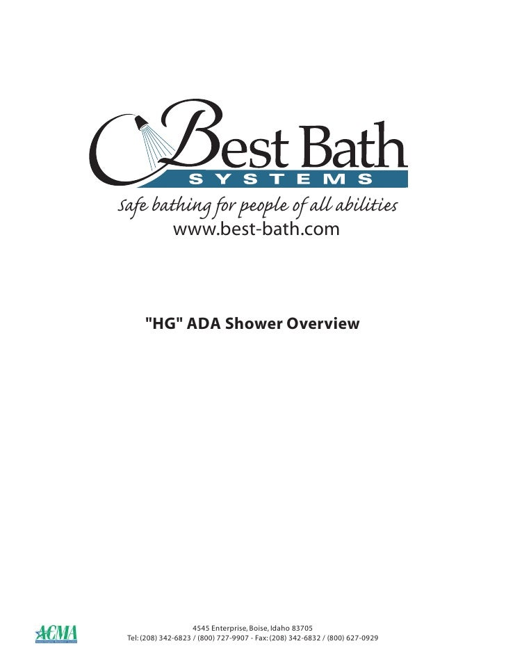 "Safe bathing for people of all abilities               www.best-bath.com          ""HG"" ADA Shower Overview                ..."