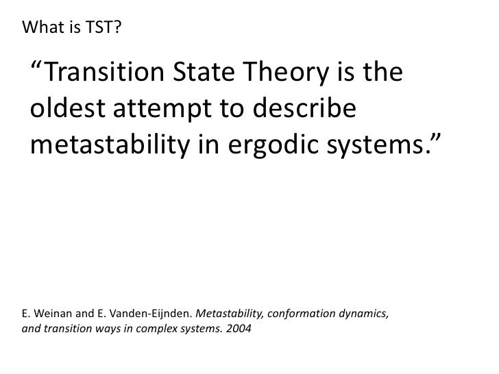 Transition State Theory Slide 2