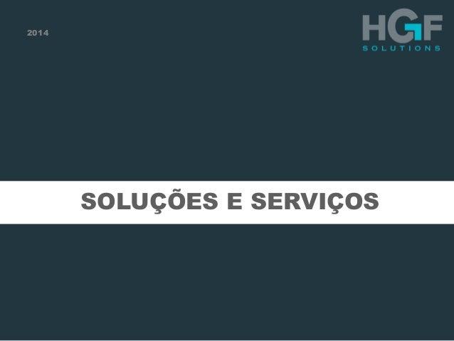2014  SOLUÇÕES E SERVIÇOS