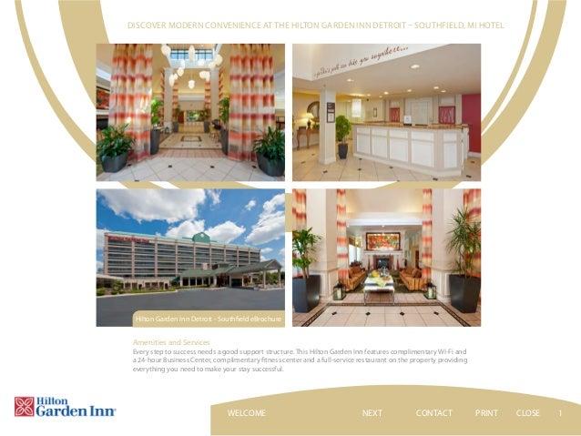 Hilton Garden Inn Detroit Southfield Hotel Ebrochure
