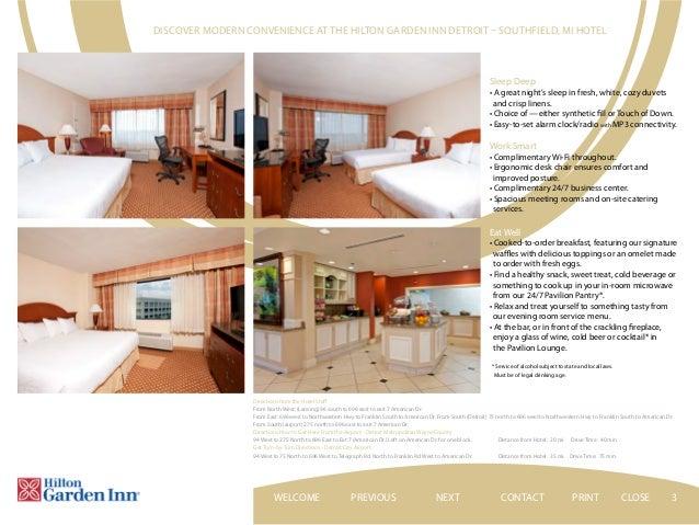 Perfect CONTACTPREVIOUS NEXT PRINT CLOSEWELCOME; 3. 3 Discover Modern Convenience  At The Hilton Garden Inn Detroit U2013 Southfield ...