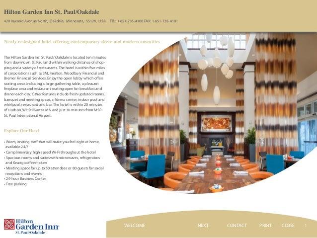 Wonderful 1 Hilton Garden Inn St. Paul/Oakdale 420 Inwood Avenue North, Oakdale, ...