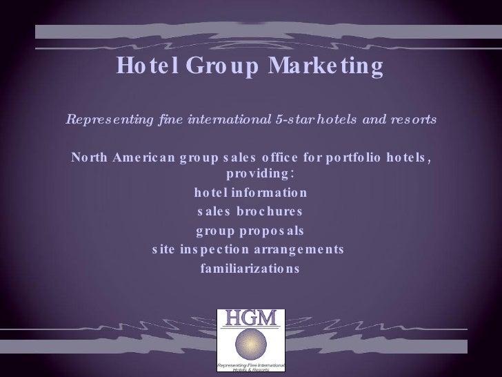 Hotel sales presentation