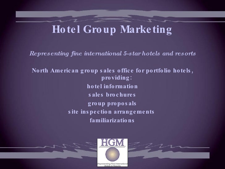 Hotel Group Sales 117