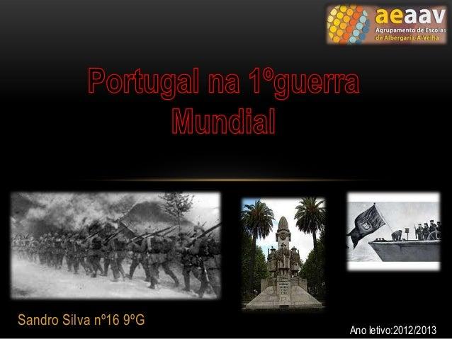 Sandro Silva nº16 9ºG                        Ano letivo:2012/2013