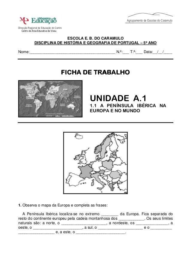 Agrupamento de Escolas do CaramuloDirecção Regional de Educação do Centro   Centro de Área Educativa de Viseu             ...