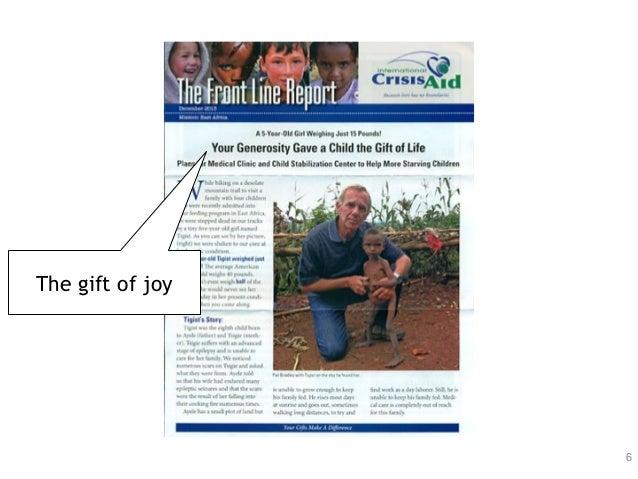 6 The gift of joy