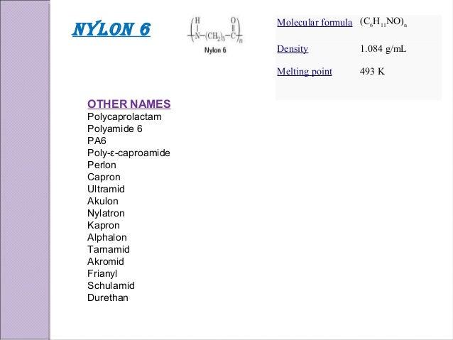 Density Of Nylon 6