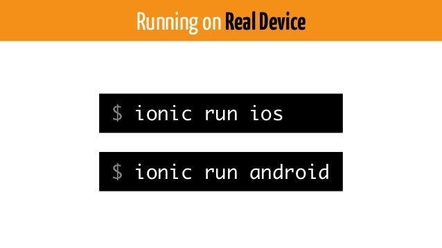Running on Browser $ ionic serve