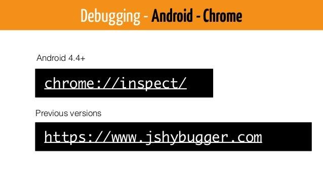 Debugging - iOS $ defaults write com.apple.Safari IncludeDebugMenu 1 Activate Safari Dev/Debug Menu (or use the GUI) Selec...