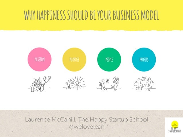 WHYHAPPINESSSHOULDBEYOURBUSINESSMODEL Laurence McCahill, The Happy Startup School @welovelean