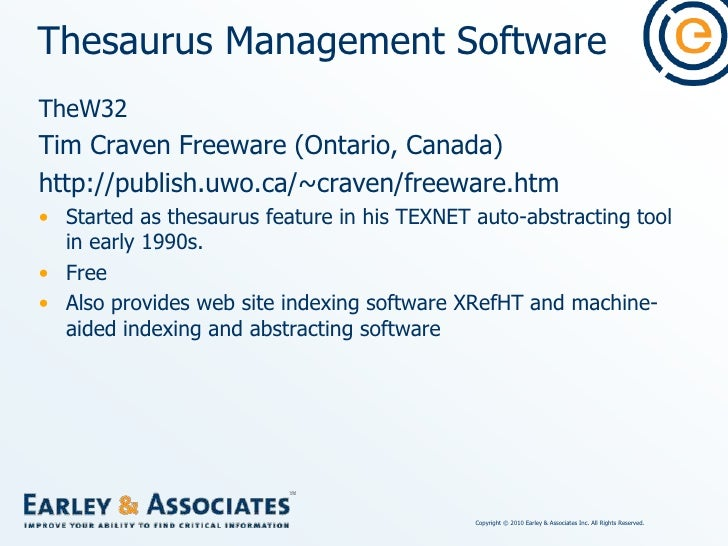 Thesaurus Management Software<br />TheW32 Interface<br />