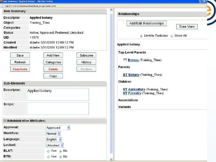 Thesaurus Management Software<br />Semaphore Ontology Manager<br />Smartlogic Semaphore Ltd. (London, UK) + US office<br /...