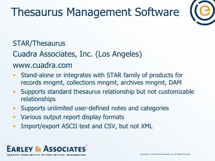 Thesaurus Management Software<br />SoutronTHESAURUS<br />Soutron Ltd. (United Kingdom)<br />www.soutron.com<br />Markets i...