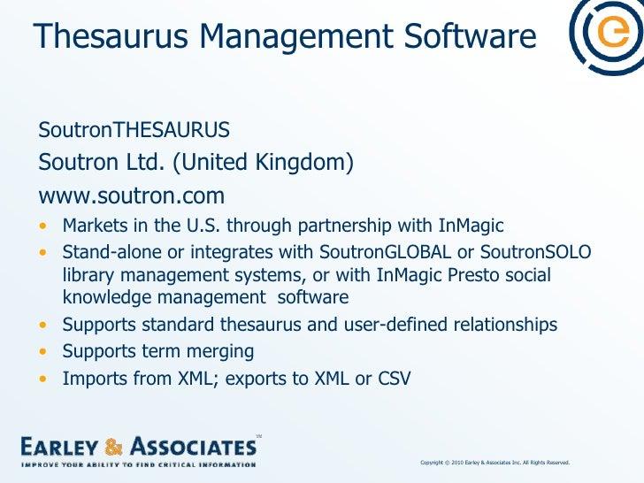 Thesaurus Management Software<br />Mondeca ITM T3 (Intelligent Topic Manager: Thesaurus, Taxonomies, Terminologies)<br />M...