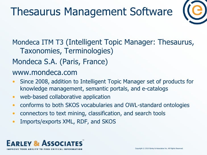Thesaurus Management Software<br />PoolParty<br />punkt. netServices GmbH (Vienna, Austria)<br />http://poolparty.punkt.at...