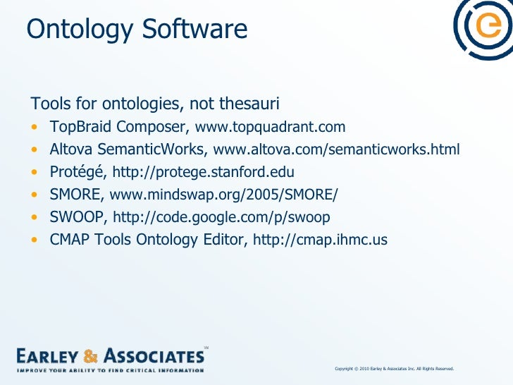 Other Software with Taxonomy/thesaurus Creation & Editing Components<br />Metadata or cataloging software, especially for ...