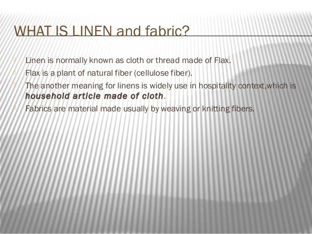 hh204 fabric and linen handling presentation