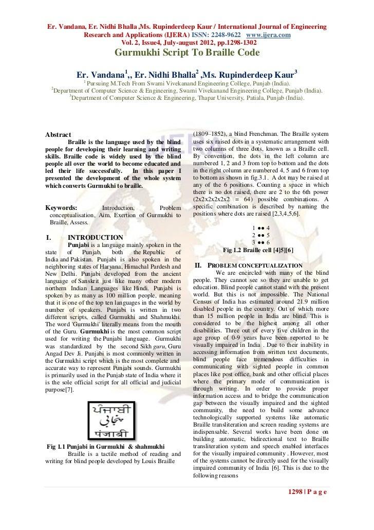Er. Vandana, Er. Nidhi Bhalla ,Ms. Rupinderdeep Kaur / International Journal of Engineering           Research and Applica...