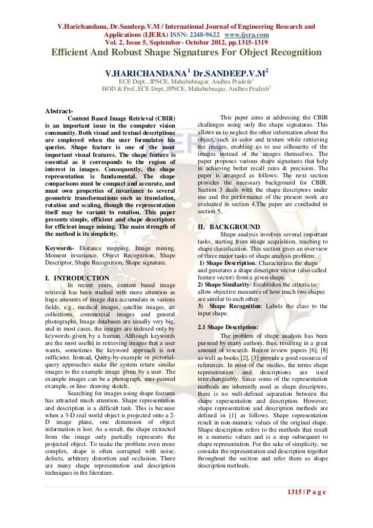 V.Harichandana, Dr.Sandeep.V.M / International Journal of Engineering Research and                  Applications (IJERA) I...